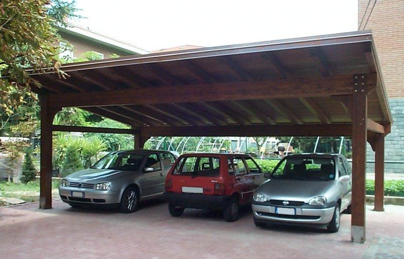 Carport tre posti auto a campata unica- Modena
