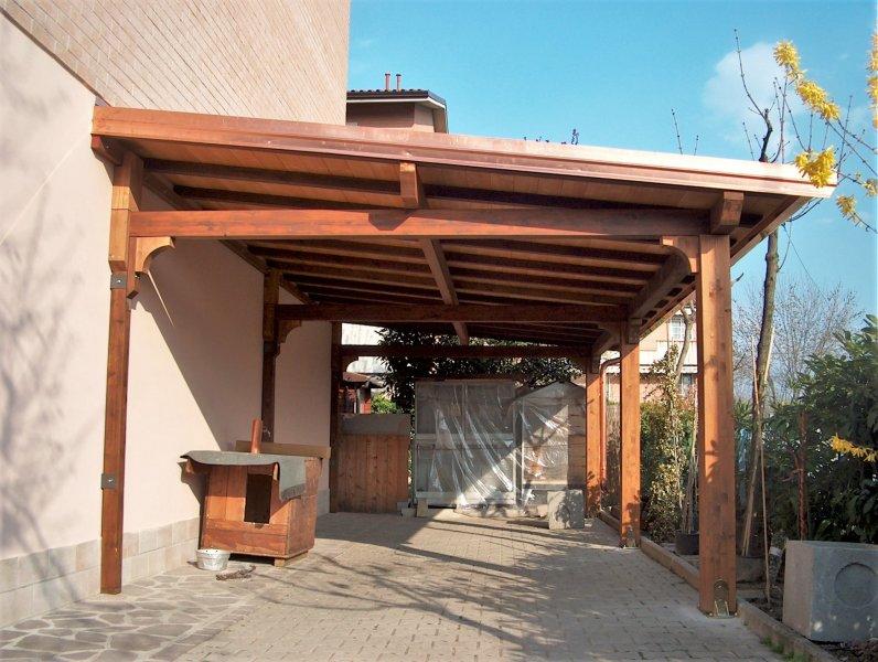ripristino e consolidamento su tettoia addossata - Spilamberto (Mo)